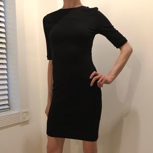 Topshop Black Knit Fitted Sheath Dress XS/S US 6